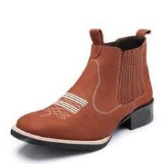 Imagem de Bota Country Couro Nobuck Soft Linha Colt Boots Difranca - 2173 - Castor