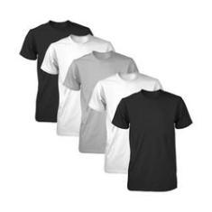 Imagem de Kit Com 5 Camisetas Básicas Esportivas Masculina ,  E