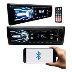 Imagem de Aparelho Som Automotivo Rádio 1 Din Bluetooth 2xUsb Sd Card Aux Carro