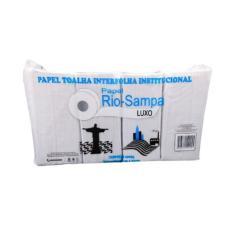 Imagem de Papel Toalha Interfolha Rio-Sampa Luxo 20cmx21cm 1.000fls