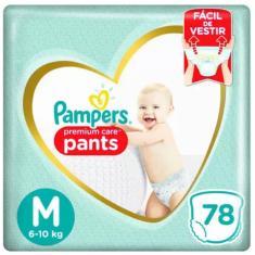 Imagem de Fralda de Vestir Pampers Premium Care Pants Tamanho M 78 Unidades Peso Indicado 6 - 10kg