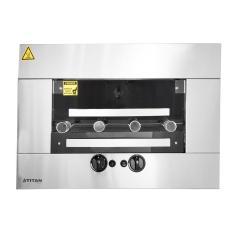 Imagem de Assador A Gás Gn De Embutir Titan Churrasqueiras Titanium Inox 4 Espetos