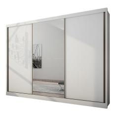 Guarda-Roupa Casal 3 Portas 6 Gavetas com Espelho Natus Novo Horizonte