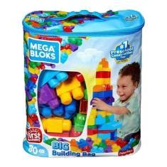 Imagem de Mega Bloks Sacola Com 80 Peças - Fisher Price Mattel Orignal