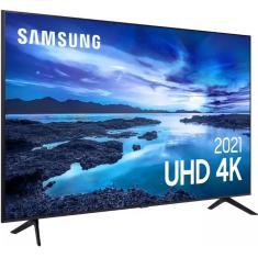 "Smart TV LED 60"" Samsung Crystal 4K HDR UN60AU7700GXZD"