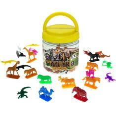 Imagem de Kit 50 Bonecos Animais Selvagens Miniatura 5cm - Mimo Toys
