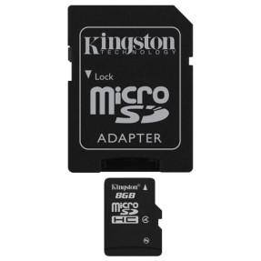Cartão de Memória Micro SDHC com Adaptador Kingston 8 GB SDC4/8GB
