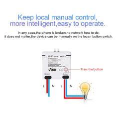 Imagem de Wifi interruptor do temporizador sem fio app Remote Control Module casa inteligente AC100-240V 5A para Equipamento doméstico e lâmpadas