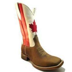 Imagem de Bota Texana Bico Quadrado Canadá Marrom