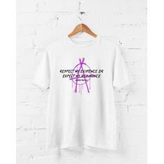 Imagem de Camiseta Anarquia Grafite - Justice For All - Arte Urbana - Camisa Divertida e Engraçada (, P)