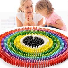 Imagem de 120 Pcs/Conjunto de Brinquedos Dominó Cor Domino
