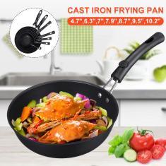 Imagem de 6 Tamanhos Mini Frigideira Antiaderente Frigideira com Fundo de Indução Cozinhar fundo plano Wok Steak Frigideira Frigideira com wok Panela de uso geral