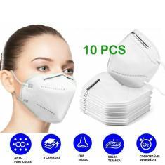 Imagem de 10x Máscara Proteção Hospitalar KN95 Clip Nasal Pff2