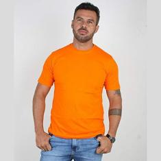 Imagem de Camiseta Basica Manga Curta Masculina Lucas Lunny Lisa Cor:Laranja;Tamanho:GG;Gênero:Masculino