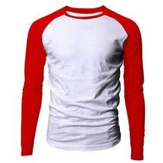 Imagem de Camiseta Masculina raglan manga longa  e  tamanho:M;cor: