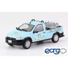 Imagem de Miniatura Carros Veículos de Serviço do Brasil Edição 55 Fiat Strada Distribuição de Água