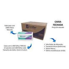 Imagem de Papel Toalha Interfolhada Folha Tripla Inovatta ITI03 - Cx2400fls
