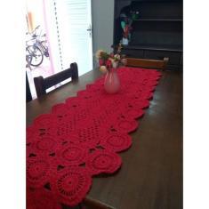 Imagem de Caminho De Mesa Em Crochê Artesanal Linda Juzinha