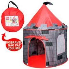 Imagem de Barraca Infantil Dobrável Tenda Castelo Torre Portatil Cabana Príncipe Ficam Guardadas Sem Volume