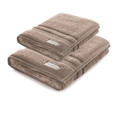 Imagem de Jogo de toalhas banho Lorenzi 2 peças Bege Legno Trussardi
