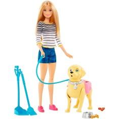 Imagem de Boneca Barbie Family Passeio Com O Cachorrinho Mattel