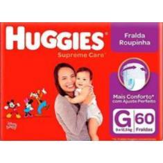 Imagem de Fralda Huggies Disney Supreme Care Fralda Roupinha Tamanho G 60 Unidades Peso Indicado 9 - 12,5kg