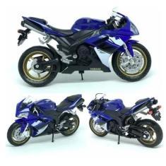 Imagem de Miniatura Moto 1:18 Yamaha Yzf-r1 2008 Colecao Ferro Welly
