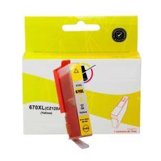 Imagem de Cartucho Yellow compatível para impressora HP Deskjet Ink Advantage 4625 4615 5525 3525 670 670XL com 15 ML de tinta