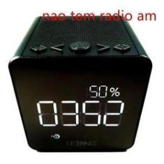 Imagem de Radio Relógio Digital Bluetooth Usb Cartão Sd Am/fm Le-673