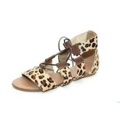 Imagem de Sandalia Feminina Gladiadora Top Franca Shoes Onca