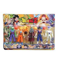 Imagem de Brinquedo infantil Kit Cartela Com 5 Bonecos Dragon Ball Articulado 15 Cm