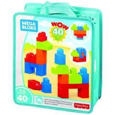 Imagem de Mega Blocks Sacola com 40 Peças Fisher-Price Mattel