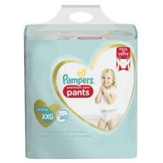Fralda de Vestir Pampers Pants Premium Care Top Tamanho XXG 60 Unidades Peso Indicado 14 - 25kg