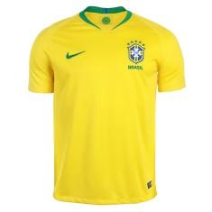 b2a390fd3a Camisa Brasil I 2018 19 com Nome e Número Torcedor Masculino Nike