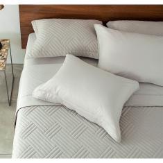 Imagem de Jogo de Lençol Casal Buddemeyer 200 Fios 100% Algodão Confort Basic Premium 4 Peças - BEGE - 140X190X30