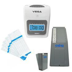 Relógio Ponto Vega Com Chapeira 10 Lugares E 100 Cartões