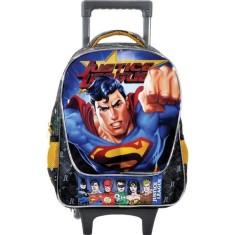 Imagem de Mochila com Rodinhas Escolar Xeryus Liga da Justiça Select Your Hero 16 5700