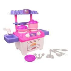 Imagem de Brinquedo Kit Cozinha Mini Fogão Infantil Menina Da Luelua