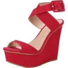 Imagem de Sandália Anabela My Shoes Couro Onça