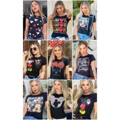 Imagem de blusinhas t-shirt moda feminina blusas
