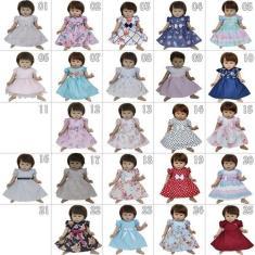 Imagem de Kit Com 4 Vestidos De Bebê Reborn Katitus Boneca