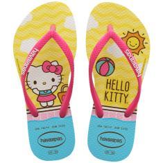 Imagem de Chinelo Feminino De Dedo Havaianas Slim Hello Kitty