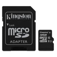 Cartão de Memória Micro SDHC com Adaptador Kingston 32 GB SDC10G2/32GB