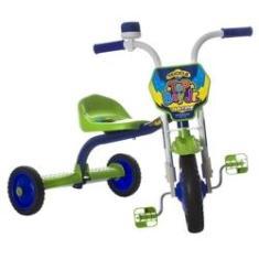 Imagem de Triciclo Infantil Menino Com Buzina Top Boy Jr Ultra Bikes Verde