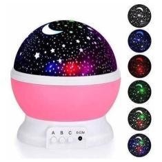 Imagem de Luminaria Abajur Rotativa Projetor Globo Estrela Criança Festa Star Galaxia Lua Colorida Decorações