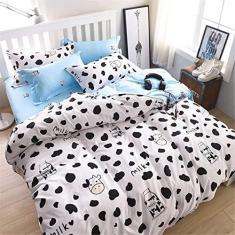 Imagem de PJPPJH Conjuntos de capa de edredom, conjunto de roupa de cama, 3 peças, capa de colcha de cama, 2 fronhas, 1 capa de colcha para cama de casal e King