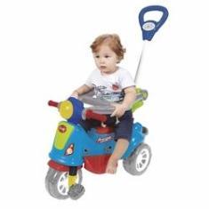 Imagem de Triciclo Infantil Maral Retrô Com Empurrador Colorido