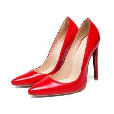 Imagem de Sapatos femininos pontiagudos elegantes sapatos de salto alto e saltos finos