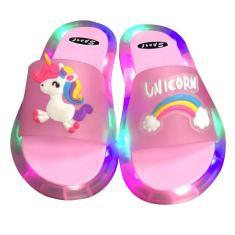 Imagem de Chinelos LED Sandálias de banho infantil sapatos leves chinelos luminosos