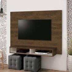 Imagem de Painel para TV até 40 Polegadas Fox EDN Móveis Nogal Rústico/Off White